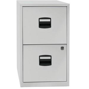 BISLEY Home PFA 2 Hängeregistraturschrank grau/grau 2 Schubladen