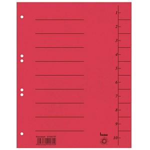 100 bene Trennblätter rot