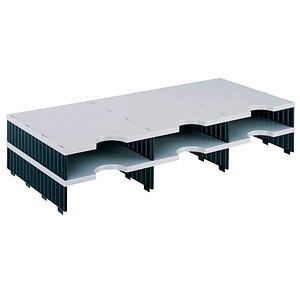 styro Sortierstation Styrodoc grau/schwarz mit 6 Fächern