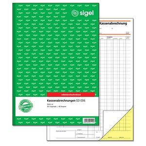 SIGEL Formularbuch SD006 Kassenabrechnung
