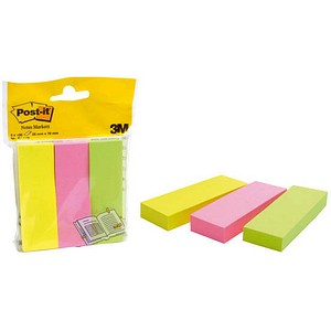 Post-it® Notes Markers Haftmarker farbsortiert 3x 100 Streifen