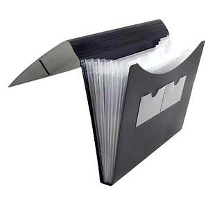 FolderSys Fächermappe   7 Fächer schwarz