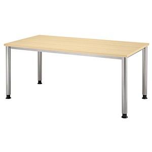 HAMMERBACHER Orbis höhenverstellbarer Schreibtisch ahorn rechteckig