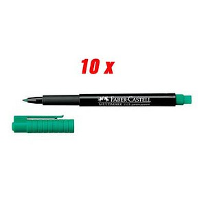 10 FABER-CASTELL MULTIMARK 1513 Folienstifte grün 0,6 mm permanent