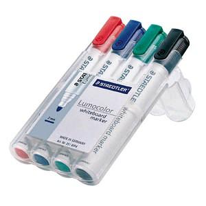 4 STAEDTLER Lumocolor Whiteboard-Marker farbsortiert 2,0 mm