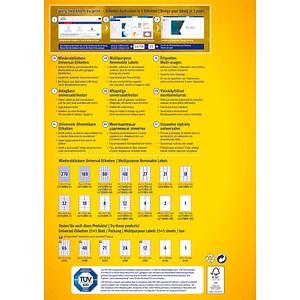AKTION: 250 AVERY Zweckform Etiketten L4744REV-25 weiß + GRATIS 50 Etiketten