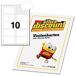 250 office discount Visitenkarten   weiß