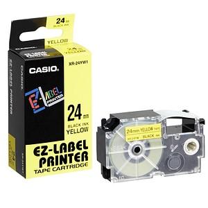 CASIO Beschriftungsband XR-24YW XR-24YW1, 24 mm schwarz auf gelb