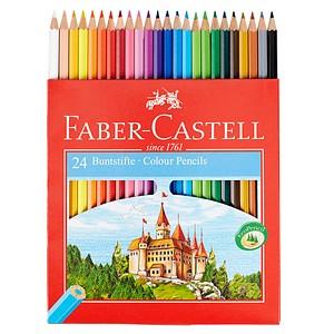 24 FABER-CASTELL CASTLE Buntstifte farbsortiert