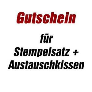 trodat Gutschein für Stempelplatte   für trodat 5204 mit Logo