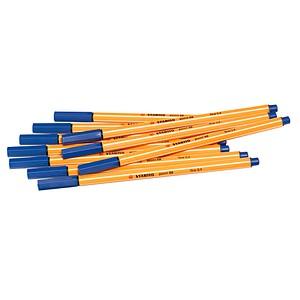 10 STABILO point 88 Fineliner blau 0,4 mm