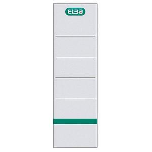 10 ELBA Ordneretiketten weiß für 8,0 cm Rückenbreite