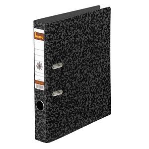 bene Hartpappe Ordner schwarz marmoriert Karton 4,5 cm DIN A4