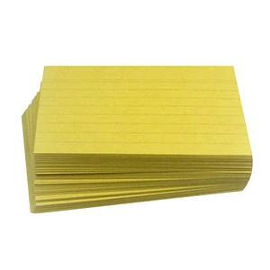 100 Karteikarten DIN A7 gelb liniert