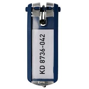 6 DURABLE Schlüsselanhänger KEY CLIP blau