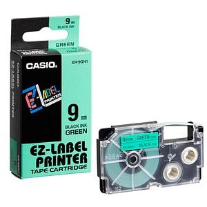 CASIO Beschriftungsband XR-9GN XR-9GN1, 9 mm schwarz auf grün