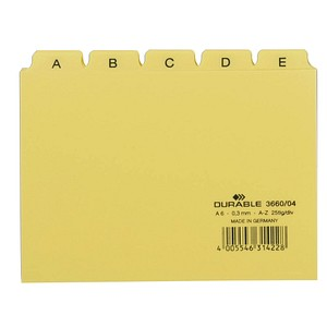 DURABLE Karteikartenregister   A-Z gelb