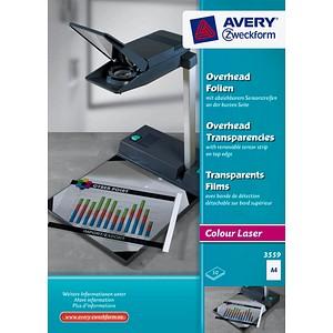 AVERY Zweckform Laserfolien   klar A4 50 St.