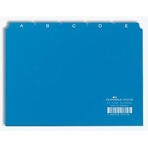 DURABLE Karteikartenregister   A-Z blau