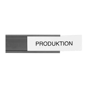 54 Legamaster   Etikettenhalter magnetisch schwarz 6,0 x 2,0 cm