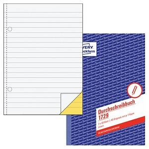 AVERY Zweckform Formularbuch 1729 Durchschreibebuch