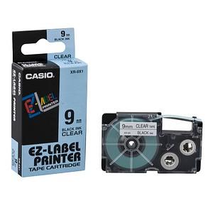 CASIO Beschriftungsband XR-9X XR-9X1, 9 mm schwarz auf transparent