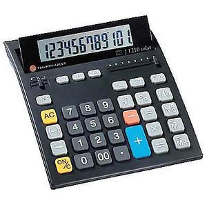 TA J1210 Solar Tischrechner schwarz