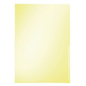100 LEITZ Sichthüllen Premium 4100 gelb glatt DIN A4