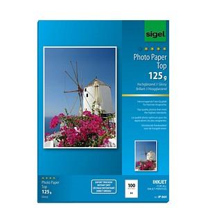SIGEL Fotopapier IP664 DIN A4 hochglänzend 125 g/qm 100 Blatt