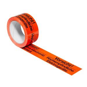 SUPRA Warnklebeband   Vorsicht! Hochempfindliche Elektrogeräte leuchtorange 50,0 mm x 66,0 m 1 Rolle