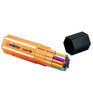 20 STABILO point 88 Fineliner-Set farbsortiert 0,4 mm