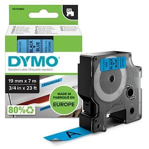 DYMO Beschriftungsband D1 S0720860, 19 mm schwarz auf blau
