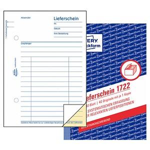 AVERY Zweckform Formularbuch 1722 Lieferschein