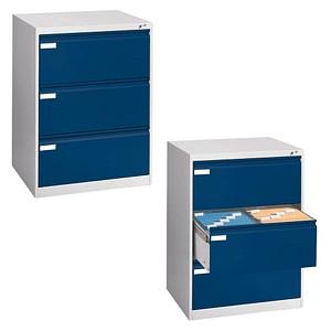 CP Hängeregistraturschrank blau/grau 3 Schubladen