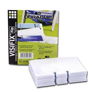 40 DURABLE Ersatzhüllen für Rollkartei Visifix