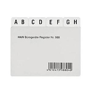 HAN Karteikartenregister   A-Z transparent
