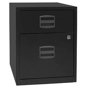 BISLEY Home Rollcontainer schwarz 2 Auszüge