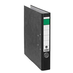 Grüner Balken Ordner schwarz marmoriert Karton 5,0 cm DIN A4