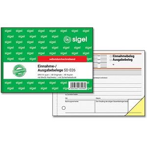 SIGEL Formularbuch SD026 Einnahme-/Ausgabebeleg
