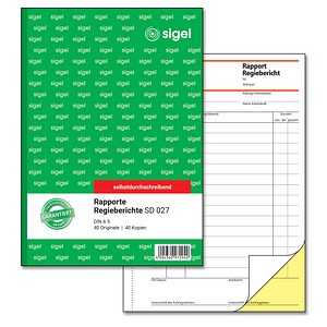 SIGEL Formularbuch SD027 Rapport/Regiebericht