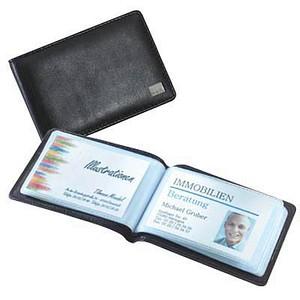 SIGEL Visitenkartenmäppchen Torino schwarz