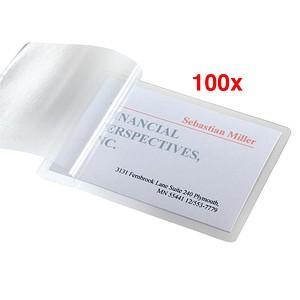 100 Sigel Laminierfolien Für Visitenkarten Glasklar