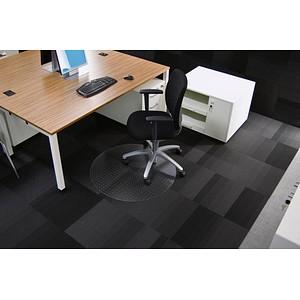 Rollsafe Bodenschutzmatte für Teppichböden rund, 90,0 x 90,0 cm