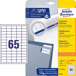 AKTION: 1.625 AVERY Zweckform Etiketten 6121 weiß + GRATIS 325 Etiketten