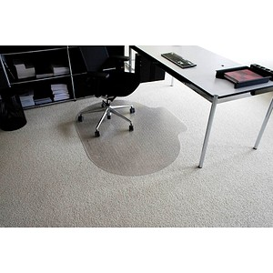Rollt & Schützt Bodenschutzmatte für Teppichböden rund mit Lippe, 120,0 x 150,0 cm