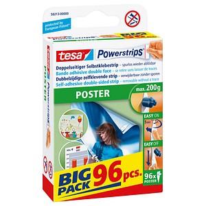 96 tesa Powerstrips POSTER Klebestreifen für max. 200,0 g 1,5 x 4,5 cm