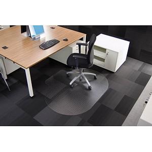 Rollsafe Bodenschutzmatte für Teppichböden rund mit Lippe, 120,0 x 150,0 cm
