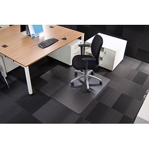 Rollsafe Bodenschutzmatte für Teppichböden rechteckig mit Lippe kurze Seite, 120,0 x 130,0 cm