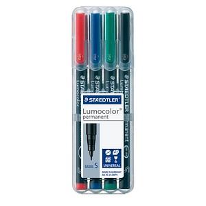 STAEDTLER Lumocolor Folienstifte-Set farbsortiert permanent 4 St.