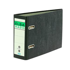 ELBA rado A5 quer Ordner schwarz marmoriert Karton 7,5 cm DIN A5 quer
